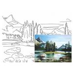 Rosa Start Landscape #22 Canvas on Cardboard with an Outline 30х40cm