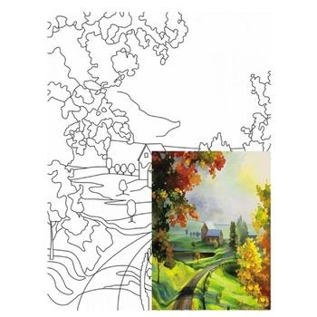 Холст на картоне Rosa Start Пейзаж №21 с контуром 30х40см