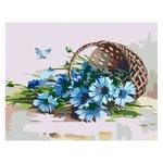 Rosa Start Cornflowers in Basket Picture By Numbers Creativity Set 35х45cm