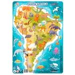 Пазл DoDo Южная Америка с рамкой