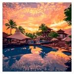 Картина по номерам Идейка Райский вечер 40х40см
