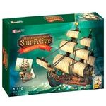 CubicFun The Spanish Armada San Felipe Construction Set 248elements
