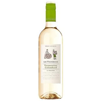 Les Vignerons Vermentino Colombard White Semi-Dry Wine 12.5% 0.75l