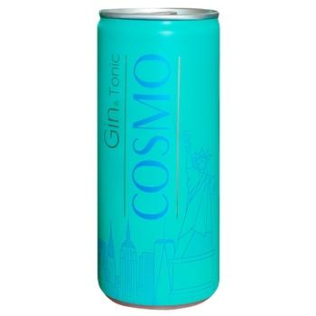 Напиток Cosmo Gin & Tonic слабоалкогольный ж/б 4.5% 0.25л