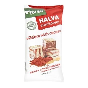 Халва Norsu Зебра подсолнечная с какао 210г