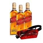 Набор подарочный №14 Виски Johnnie Walker Red Label 40% 0,7л 3шт + брендированная сумка-бананка