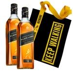 Johnnie Walker Black Label Whiskey 40% 0,7l 2pcs + Branded Shopping Bag #15 Gift Set
