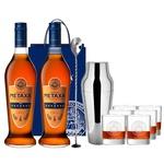 Набор подарочный №5 Бренди Metaxa 7* 40% 0,7л 2шт + барная ложка + шейкер + подарочный пакет + бокалы 6шт
