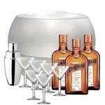 Набір подарунковий №8 Лікер Cointreau 40% 0,7л 3шт + шейкер + посуд для льоду + келихи Маргарита 6шт