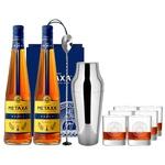 Набор подарочный №6 Бренди Metaxa 5* 38% 0,5л 2шт + барная ложка + шейкер + подарочный пакет + бокалы 6шт