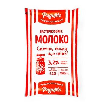 Молоко РадиМо пастеризоване 3.2% 1000г - купити, ціни на Ашан - фото 1