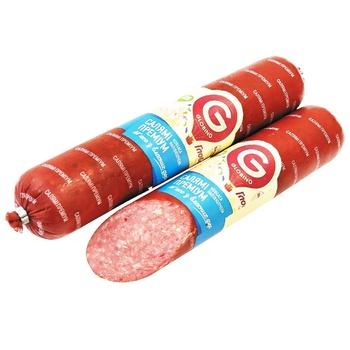 Колбаса Глобино Салями Премиум полукопченая - купить, цены на ЕКО Маркет - фото 1
