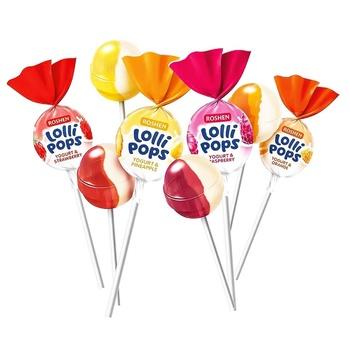 Карамель Roshen Lolli Pops с йогуртовыми вкусами