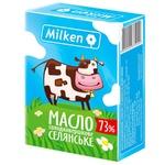 Масло Milken сладкосливочное 73% 200г