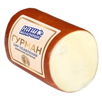 Сыр плавленый Наш Молочник Гурман колбасно-копченый - купить, цены на ЕКО Маркет - фото 1