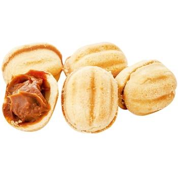 Печенье Confitteria Орешек с наполнителем Ириска