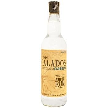 Calados Caribbean Original White Rum 37.5% 700ml - buy, prices for CityMarket - photo 1