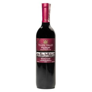 Вино Teliani Valley Мукузані червоне сухе 13% 0.75л - купити, ціни на Ашан - фото 1