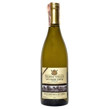 Вино Teliani Valley Алазанська долина біле напівсолодке 12% 0.75л - купити, ціни на CітіМаркет - фото 1