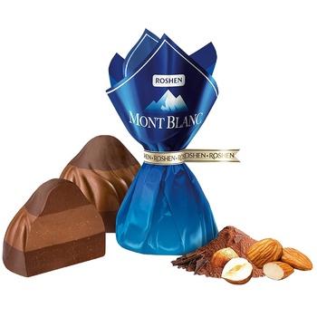 Roshen Mont Blanc Three-layer Walnut Praline Candy - buy, prices for EKO Market - photo 1