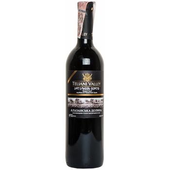 Вино Teliani Valley Алазанская долина красное полусладкое 12% 0.75л