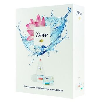 Набір подарунковий Dove Міцелярна колекція гель для душу Антистресс 500мл + мило для чутливої шкіри 100г - купити, ціни на Ашан - фото 1