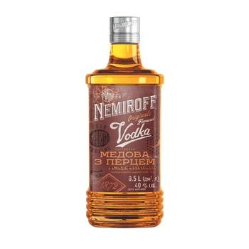 Nemiroff Ukrainian Honey With Pepper Vodka 40% 0,5l - buy, prices for CityMarket - photo 1