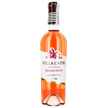 Вино Villa Capri Moscato Rosato 9-13% 0,75л
