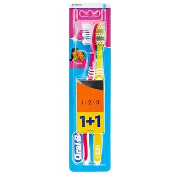 Зубна щітка Oral-B 3-Effect Classic середня 2шт - купити, ціни на Восторг - фото 1