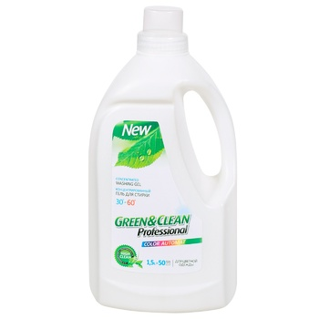 Green And Clean For Colored Things Washing Gel 1,5l - buy, prices for Auchan - photo 1