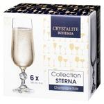 Набор бокалов Bohemia Crystalite Sterna для шампанского 180мл 6шт