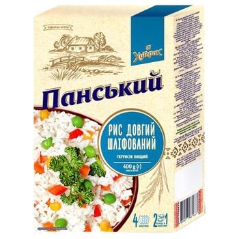 Рис Хуторок Панский длиннозерный шлифованный 4*100г