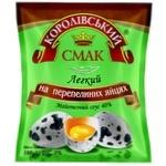 Соус майонезный Королівський Смак Легкий на перепелиных яйцях 40% 380г