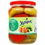 Ассорти овощное Хуторок №2 огурцы и томаты 720мл 680г