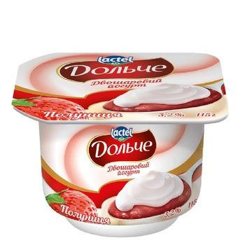 Dolce Strawberry Flavored Two-Layer Yogurt 3,2% 115g