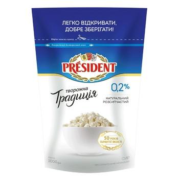 Творог President Творожная традиция нежирный 0.2% 1кг