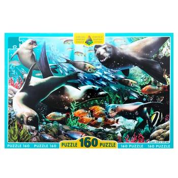 Пазл Киевская Фабрика Игрушек Моржи, тюлени, котики 160элементов