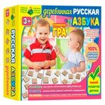 Игра настольная Киевская Фабрика Игрушек Азбука русская деревянная