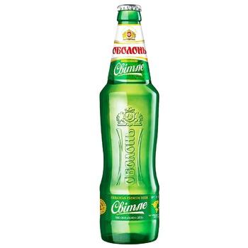 Пиво Оболонь светлое 4,5% 0,5л - купить, цены на ЕКО Маркет - фото 1