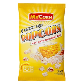 Mr'Corn For Microwave With Cheese Popcorn 90g