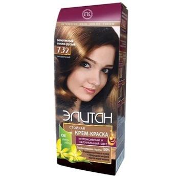 Крем-фарба для волосся Елітан №7.32 Золотистий тепло-русявий - купити, ціни на ЕКО Маркет - фото 1