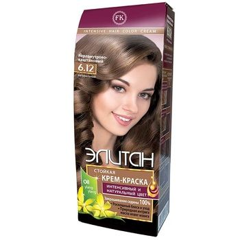Elitan #6.12 Mother-of-pearl Chestnut Hair Color Cream - buy, prices for EKO Market - photo 1