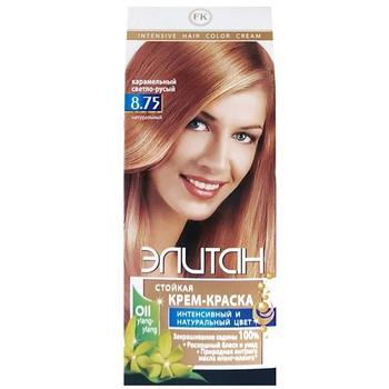 Крем-фарба для волосся Елітан №8.75 Карамельний світло-русявий - купити, ціни на ЕКО Маркет - фото 1