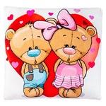 Stip Bear Cubs in the Heart Pillow 35cm