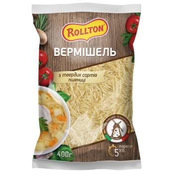 Изделия макаронные Роллтон Вермишель 400г