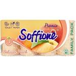 Папір туалетний Soffione Premio Delicate з ароматом персика тришаровий 16шт