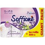 Папір туалетний Soffione Toscana з ароматом лаванди тришаровий 24шт
