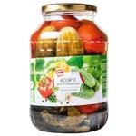 Ассорти овощное Первый Ряд Днестровское огурцы, томаты, перец 1,45кг