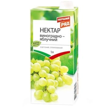 Нектар Перший Ряд яблочно-виноградний 1л - купити, ціни на ЕКО Маркет - фото 1