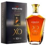 Бренди Koblevo Reserve XO виноградный марочный 10лет 40% 0,5л